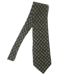 "Vintage J GARCIA Gray Print ""Space Containers"" Tie"